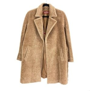 Max Mara Studio Teddy Coat Waist Tie Side Pockets